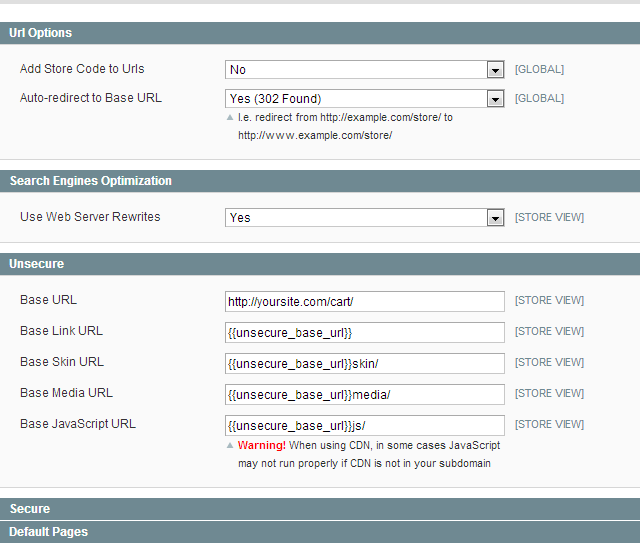 magento root directory