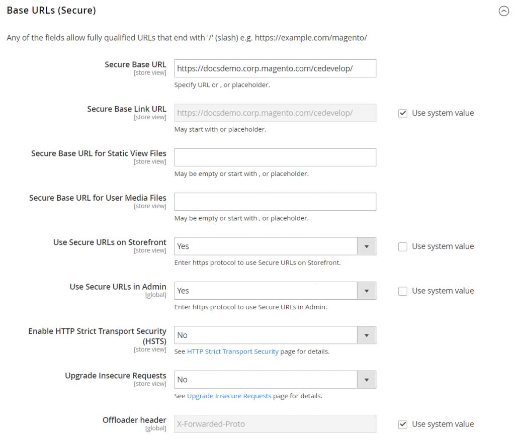 how to configure magento