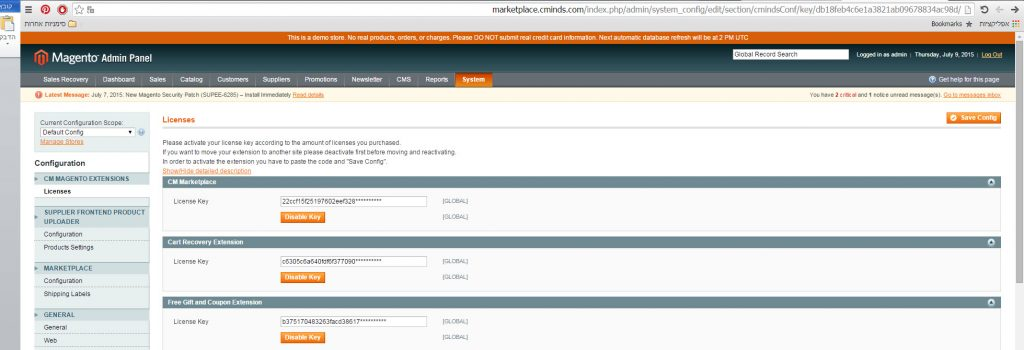 install extension in magento