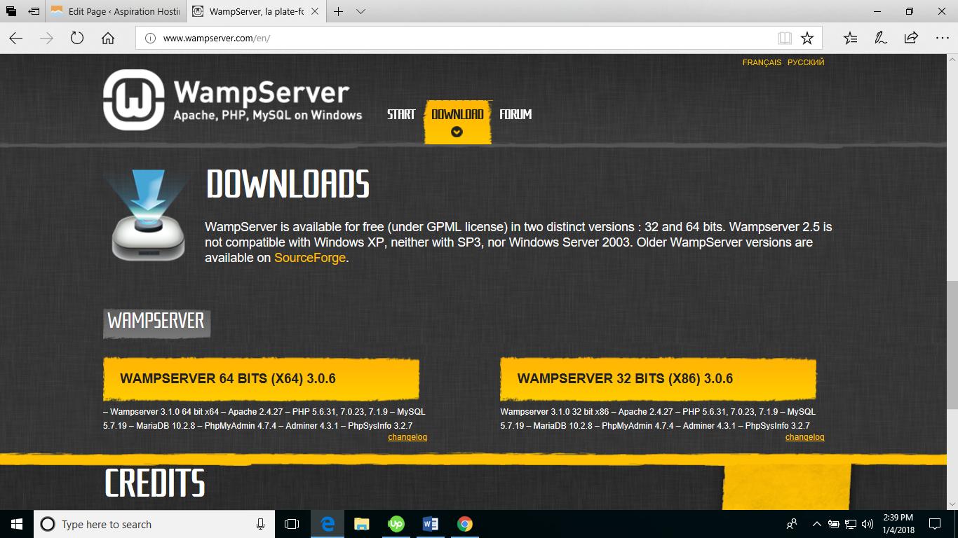 wampserver 2.5 32 bits gratuit