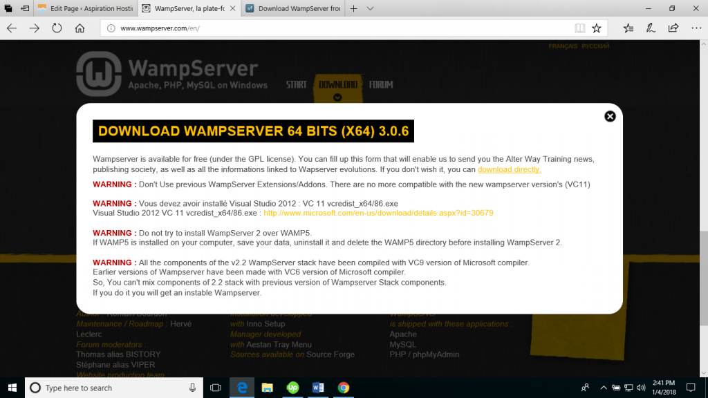 magento download for wamp