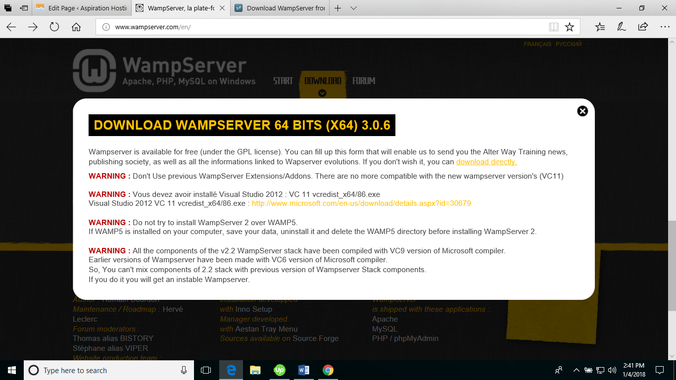 magento download for wamp - Downloading WampServer