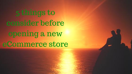new eCommerce store