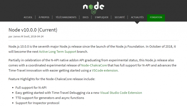 nodejs latest